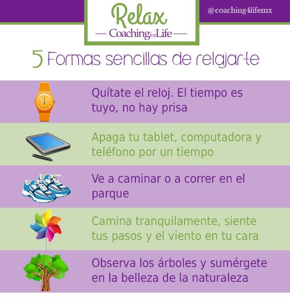 5 formas sencillas para relajarte