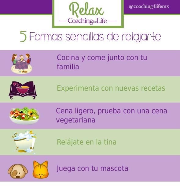 5 maneras sencillas de relajarte