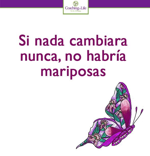Si Nada Cambiara Nunca No Habría Mariposas