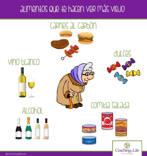 alimentos que te hacen ver más viejo
