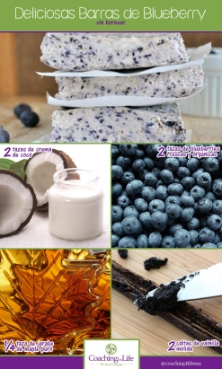 deliciosas barras de blueberry