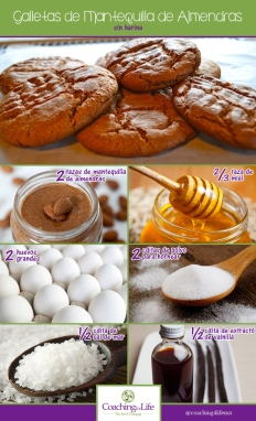 galletas de mantequilla de almendras