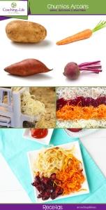 recetas churritos arcoiris
